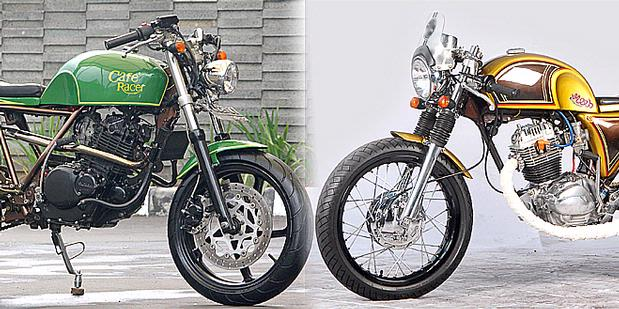 Modifikasi Suzuki Thunder - New School Modern Cafe Racer 2011 title=