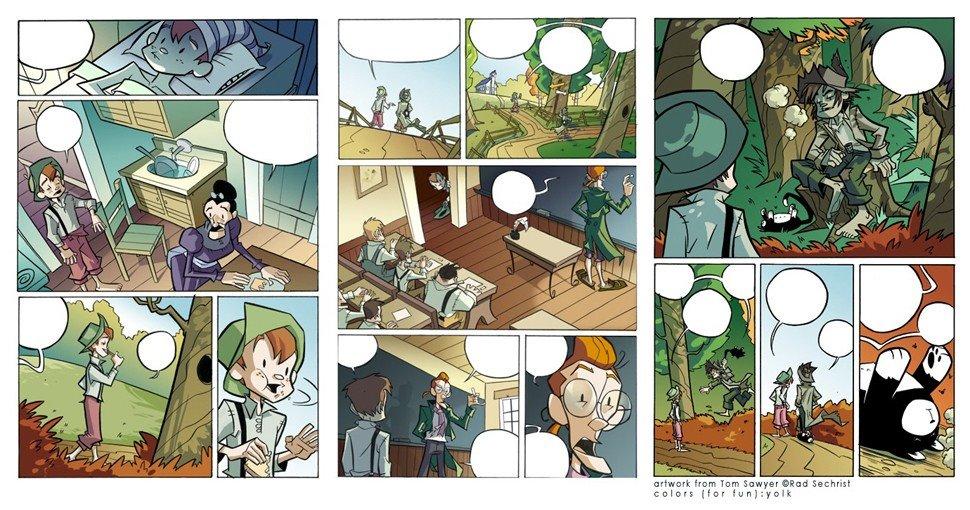 Comic Tom Sawyer
