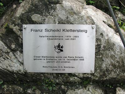 Klettersteig Hochlantsch : Cabl franz scheikl klettersteig