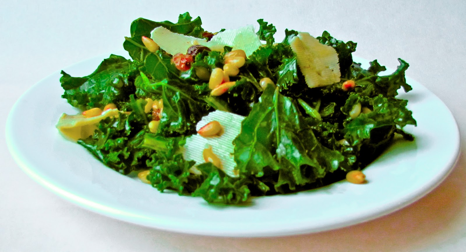 ... raw kale salad with balsamic pine nuts and parmesan recept yummly