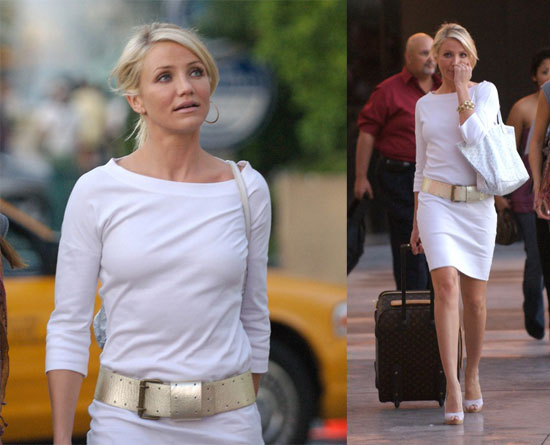 cameron diaz the mask stripe dress. cameron diaz the mask dress.
