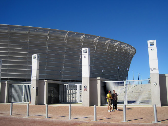 Green Point Stadium from the main gate entrances