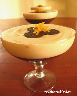 ... Vegetarian Kitchen In India : Eggless Dark Chocolate and Orange Mousse