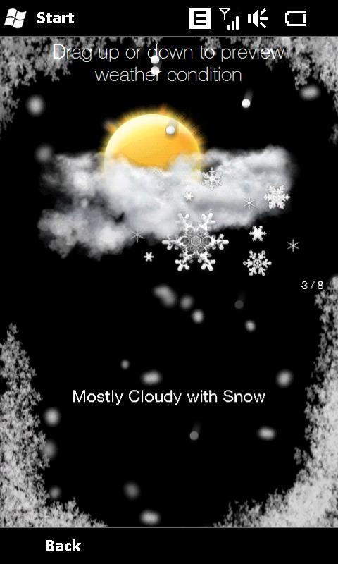 HTC Diamond Weather