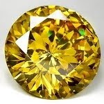 Cubic Zirconia Golden Yellow color Round AAA Quality stones