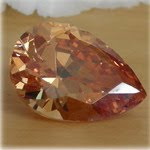 Cubic-zirconia-Champagne-Colored-Pear-shape-Stones