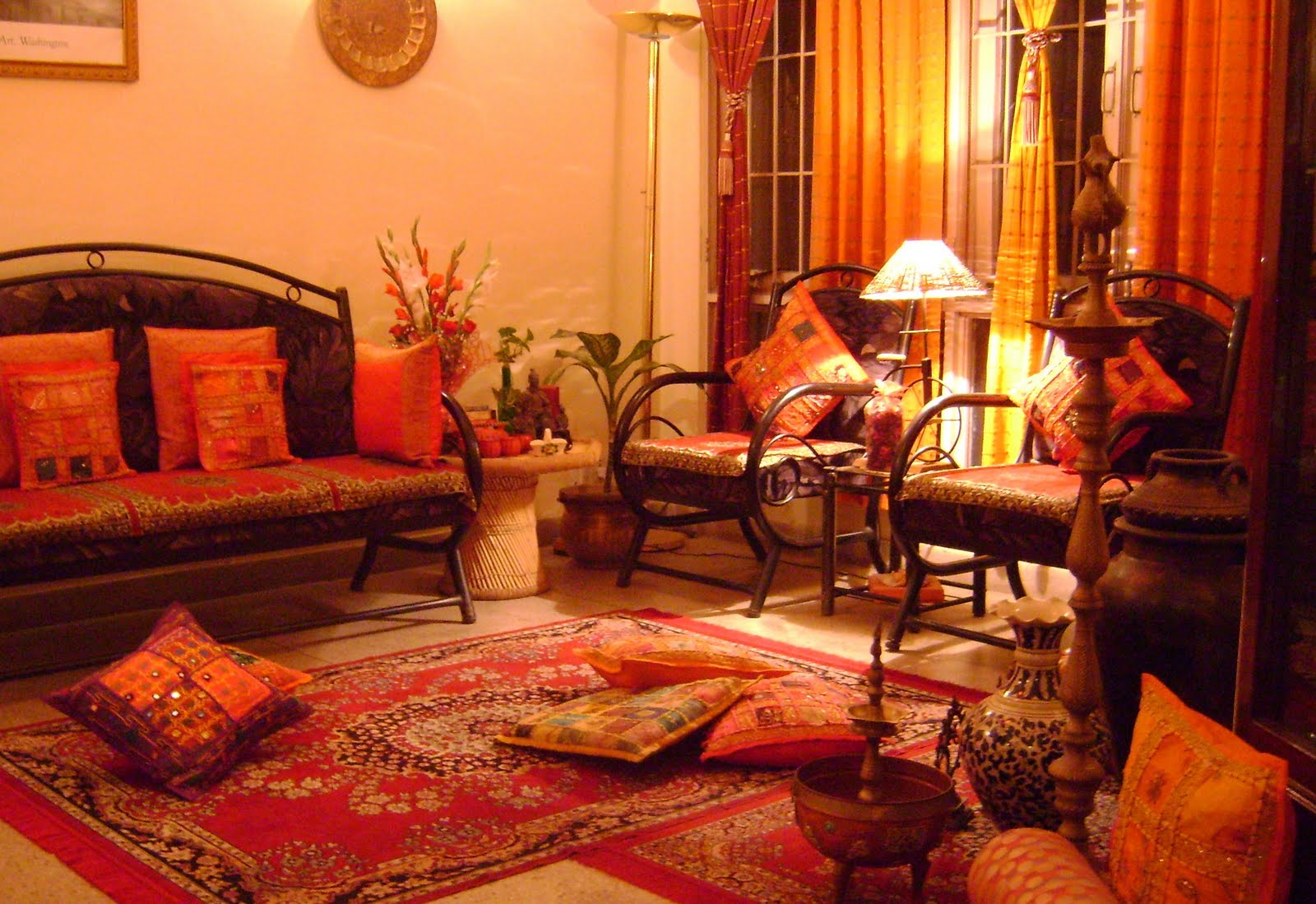 Rainbow the colours of india down the memory lane my for Indian interior design ideas living room