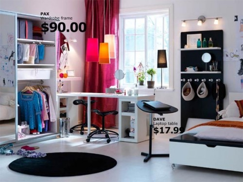Rainbow the colours of india ikea 2010 teens bedroom for Ikea teenage bedroom ideas