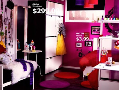 Dorm Room Bedding  Girls on The Pink Girls Dorm Room From Ikea