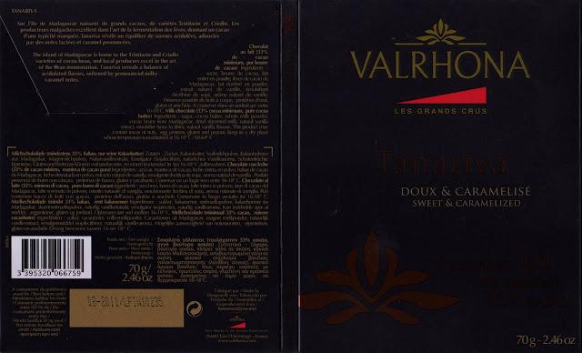 tablette de chocolat lait dégustation valrhona les grands crus tanariva 33