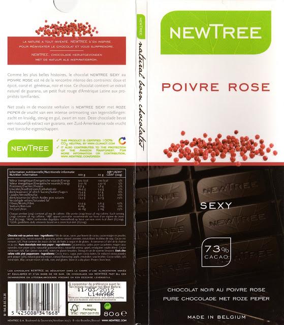 tablette de chocolat noir gourmand newtree poivre rose sexy noir 73