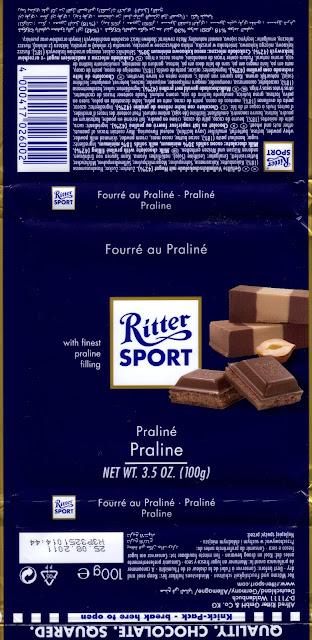 tablette de chocolat lait fourré ritter sport lait praliné