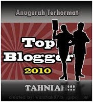 Top Blogger Award 2010