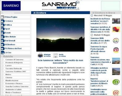 Sanremo News - Clicca per leggere l'articolo originale