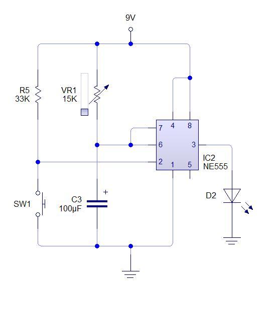 Circuito Monoestable 555 : Dark geek como conectar un modo astable y