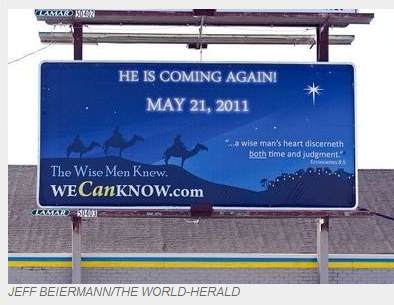 may 21 judgement day billboard. May 21 Judgement day crap.
