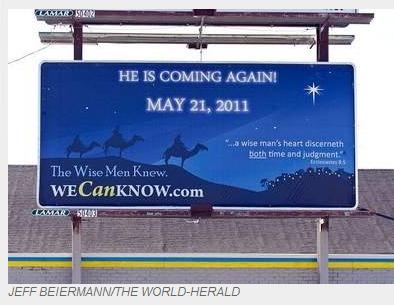 may 21 judgement day billboard. May 21 Judgement day crap.