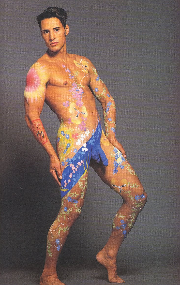 Body paint models nude male fat ass