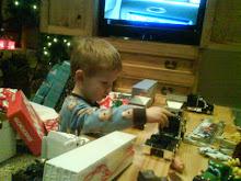 Look at all my trucks santa brought!!