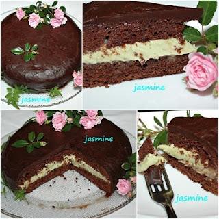 Tort de ciocolata cu crema de avocado