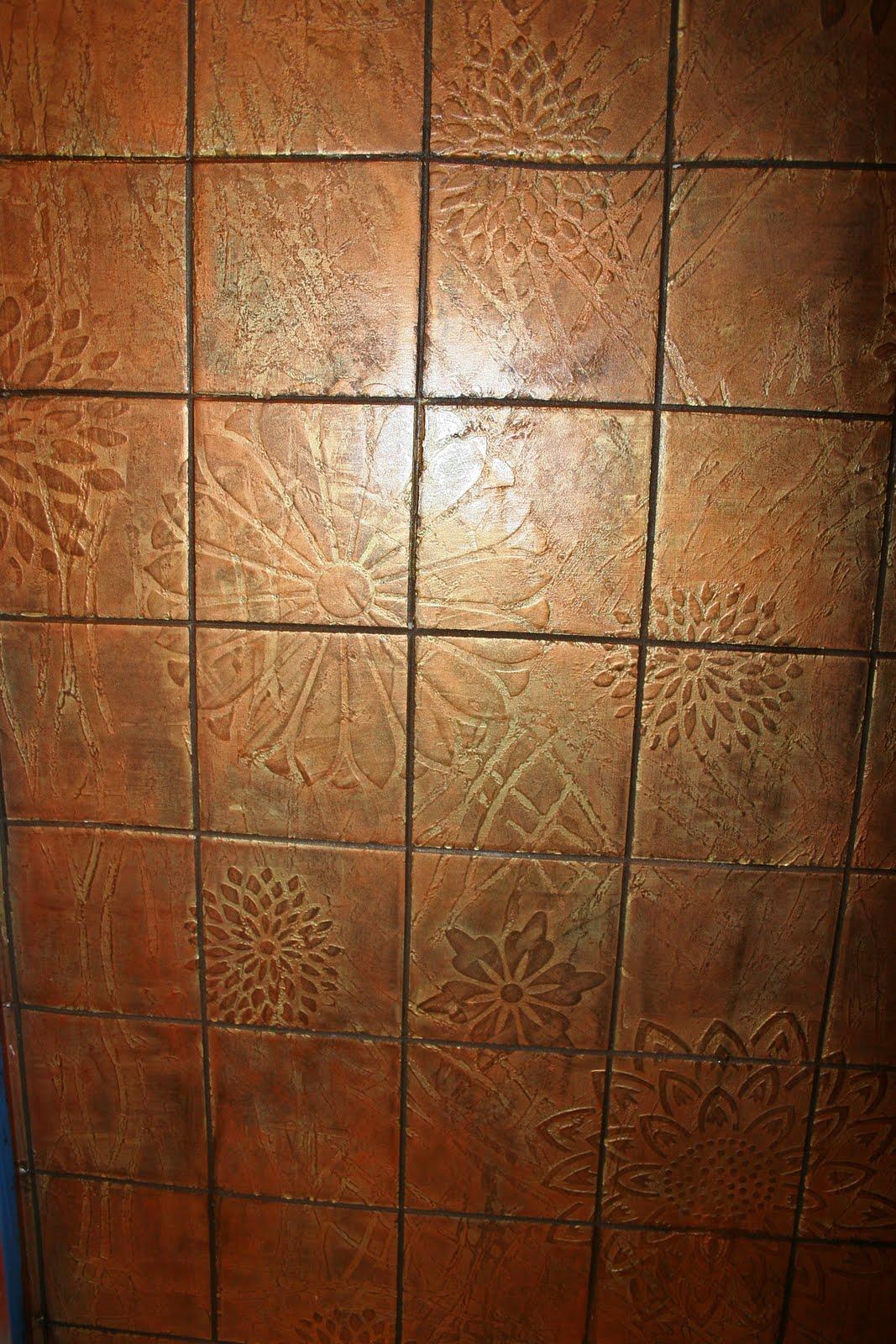Copper Bathroom Shower Tile Ideas