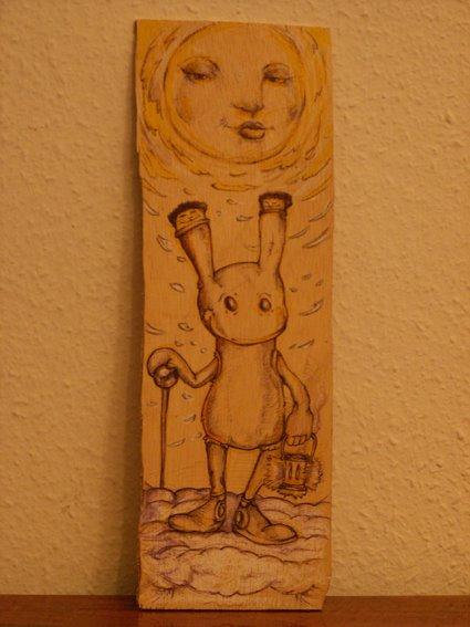 rabbit with needle