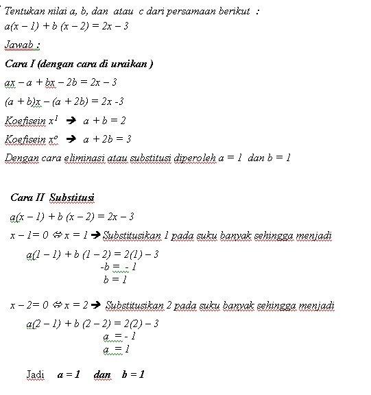 Soal Amp Penyelesaian Matematika Suku Banyak