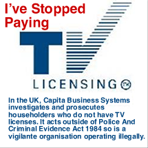 I Do Not Consent to Paying TV Licence