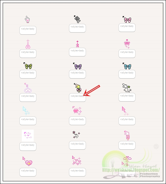 Freebies cursor comel untuk blog