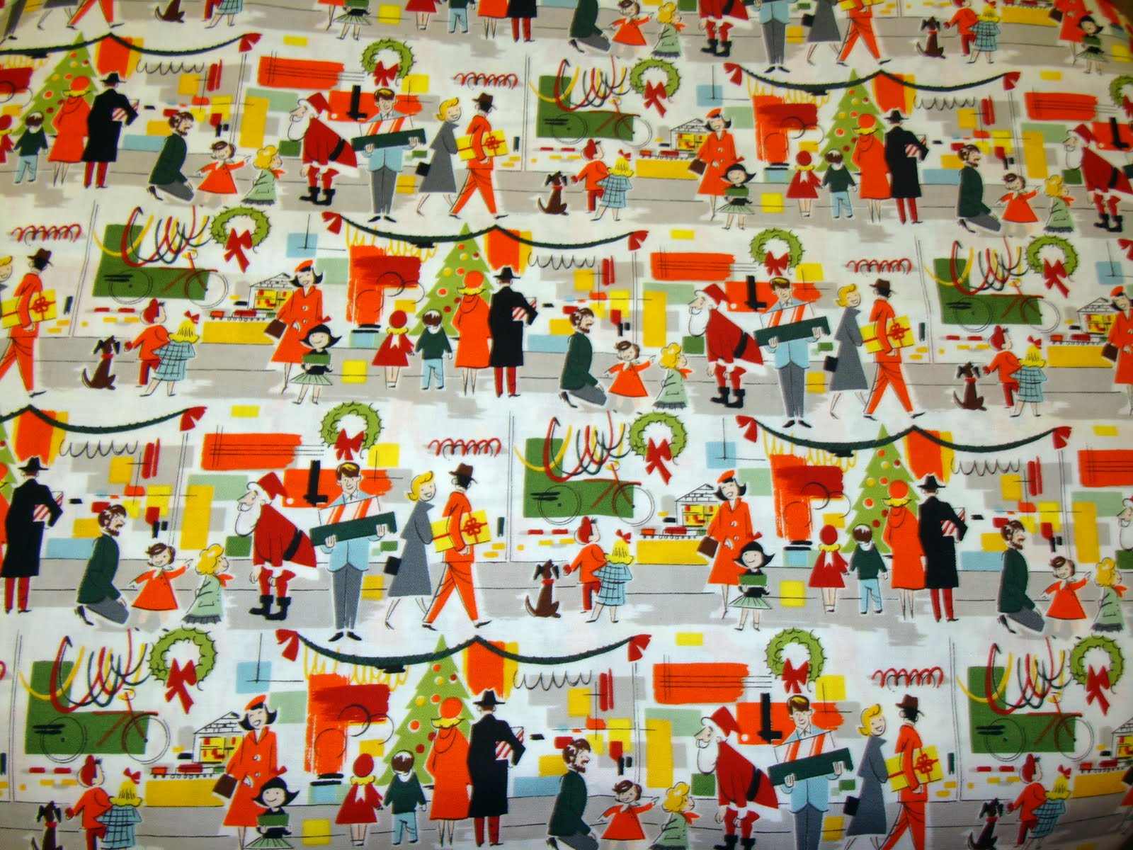 i was pretty excited to see this alexander henry fabric called merry main street it captures that vintage feel of old fashioned store windows all dressed - Vintage Christmas Fabric
