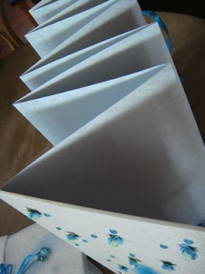 Wedding Guest Book Concertina Turquoise White