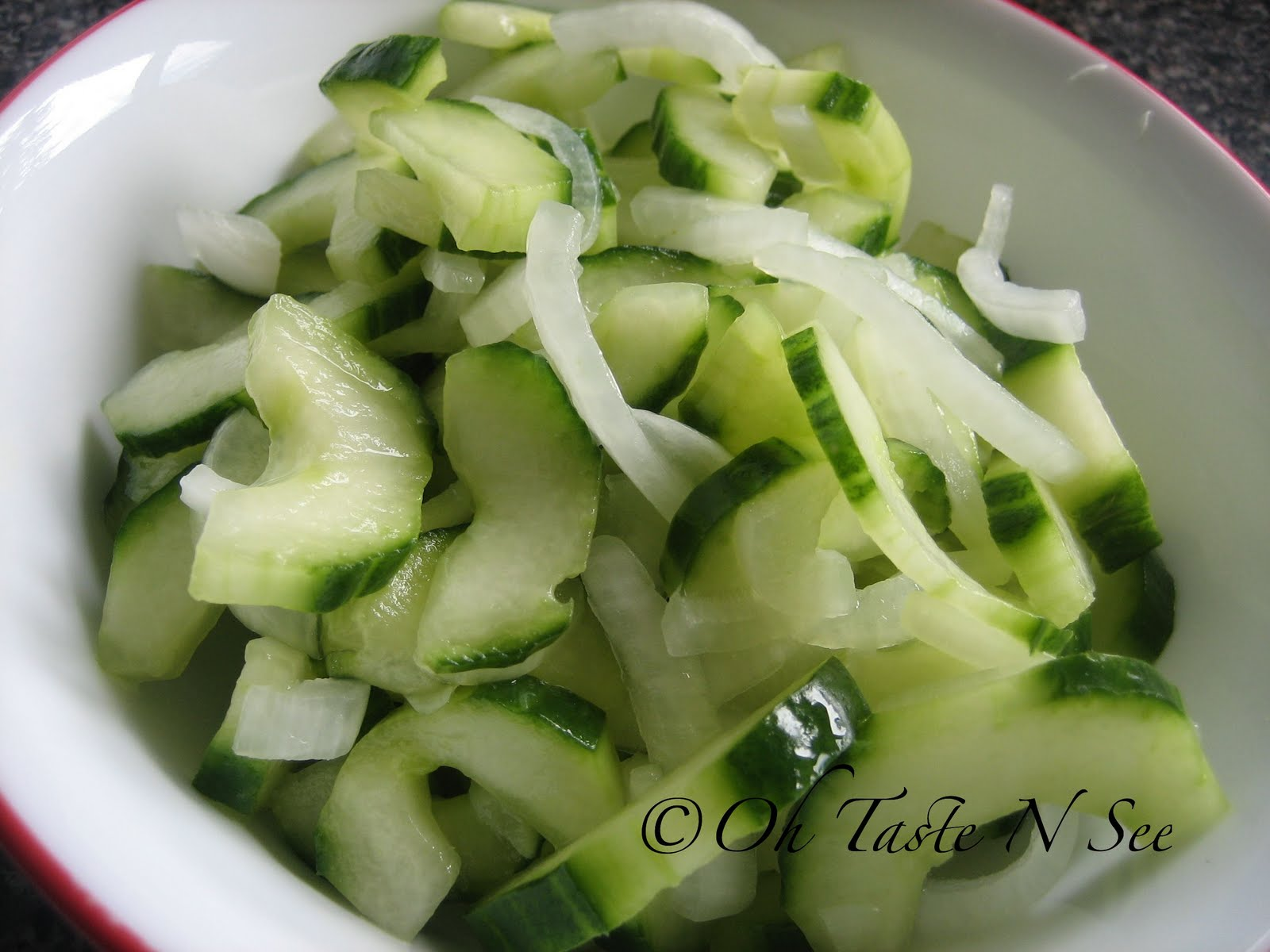 Burmese cucumber onion salad from Denny of Oh Taste n sees