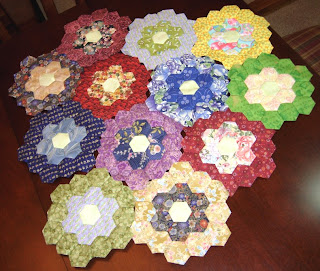 hexagon flowers 4/4/08 - 4/8/08