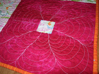 Garden Squares quilt, quilting detail