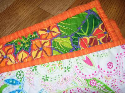 Garden Squares quilt, binding