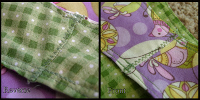 Abigail apron modified shoulder seam close-up