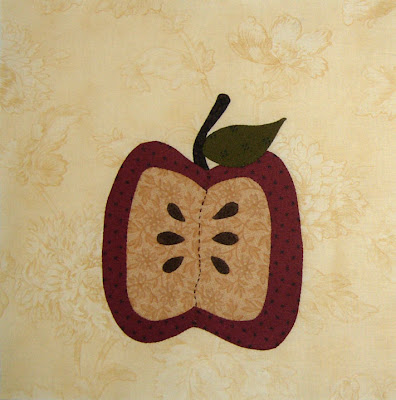 Moda Greenpiece applique block 9, the apple