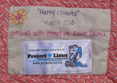 Happy Charms quilt label