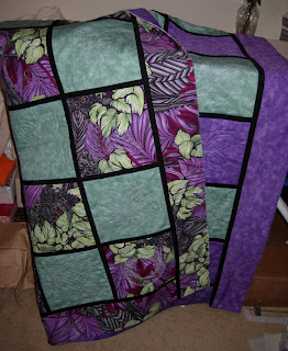 Reversible Embroidered Quilt, sans binding