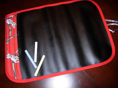 roll-up chalkboard from E