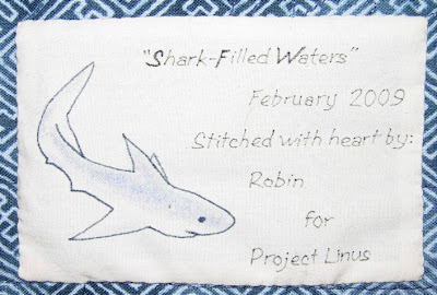 Shark-Filled Waters, label