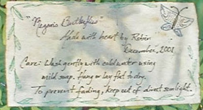 Megan's Butterflies, label