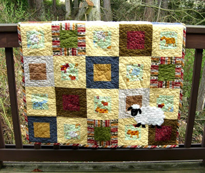 Little Sheep Quilt complete!