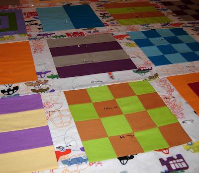 basted Mod Sampler quilt