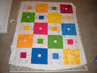 Project Linus quilt all basted