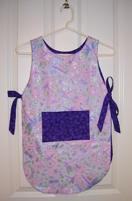 toddler apron, sparkly side