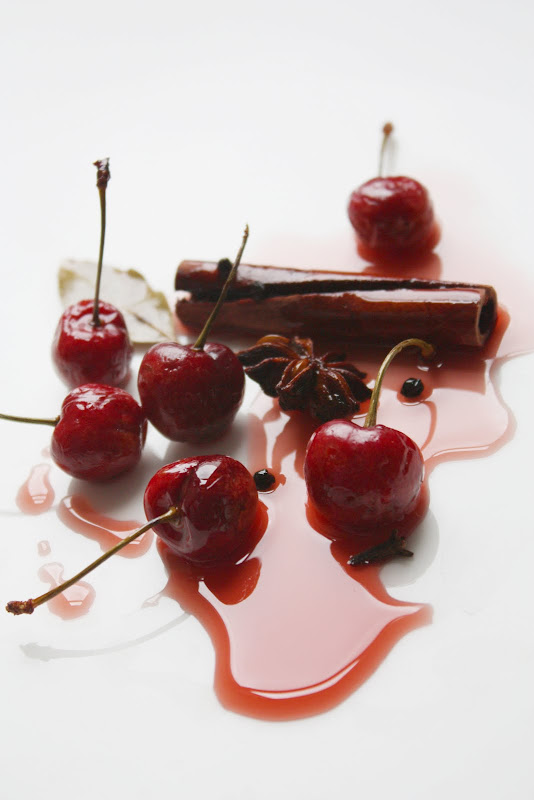 Chocolate-Espresso Torte With Fresh Sour Cherries Recipe — Dishmaps