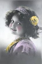 Vintage niña diadema con flor