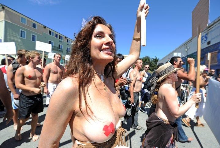 topless women beach Venice