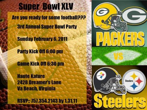 Super Bowl Invite Wording – Super Bowl Party Invitation Wording